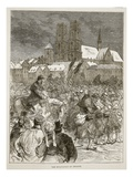 The Evacuation of Orleans, December 1870 Giclee Print by  French