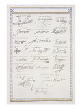 Reproduction of Signatures of the Tudors and their Court Giclee Print by Sarah Countess Of Essex