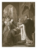 P.John&#39;s Submission to Richard I, Engraved by J. Stow Giclee Print by Benjamin West