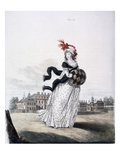 Morning Dress, Fig. 91 from 'The Gallery of Fashion', 1797 (Coloured Engraving) Giclee Print by Nicolaus von Heideloff