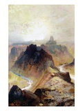 The Grand Canyon, Utah, 1874 (Oil on Paper) Giclee Print by Thomas Moran