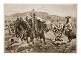 Field Artillery Coming into Action Giclee Print by Richard Caton Woodville