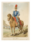 Cossack Officer, Etched by the Artist, Published 1804 (Colour Litho) Reproduction procédé giclée par John Augustus Atkinson