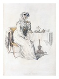 Day Dress, Fashion Plate from Ackermann's Repository of Arts (Coloured Engraving) Giclee Print by  English