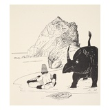 The Parsee Beginning to Eat His Cake on the Uninhabited Island Giclee Print by Joseph Rudyard Kipling