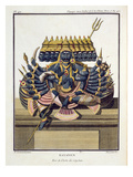 Ravana, Demon King of Ceylon, from 'Voyage Aux Indes Et a La Chine' by Pierre Sonnerat Premium Giclee Print by Pierre Sonnerat