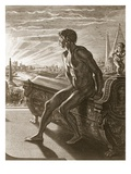 Memnon's Statue, 1731 (Engraving) Giclee Print by Bernard Picart
