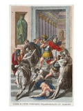 Phineus and Friends into Stone, Book V, Illustration from Ovid's Metamorphoses, Florence, 1832 Giclee Print by Luigi Ademollo