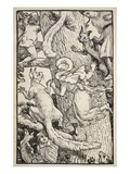 The Children Climbed the Christmas Tree with Animals and All Giclee Print by Walter Crane