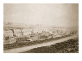 Making Latchford Locks, View from Embankment (Sepia Photo) Giclee Print by Thomas Birtles