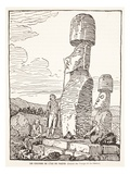 The Giants of Easter Island (Litho) Giclee Print by  French