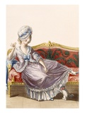Cavaco a La Polonaise, Engraved by Dupin, Plate from 'Galeries Des Modes Et Costumes Francais' Giclee Print by Pierre Thomas Le Clerc