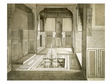 Cairo: Mandarah: Reception Room, Ground Floor, with Pool and Fountain, 19th Century (Colour Litho) Reproduction proc&#233;d&#233; gicl&#233;e par Emile Prisse d&#39;Avennes