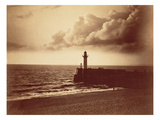 Breakwater at Sete, C.1855 (Albumen Print from a Collodion-On-Glass Negative) Giclee Print by Gustave Le Gray