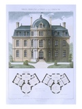 Design from 'Town and Country Houses Based on the Modern Houses of Paris', C.1864 (Colour Litho) Giclee Print by  Leblanc