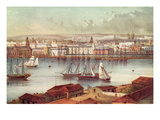 View of Havana, Cuba, Mid-19th Century (Colour Litho) Giclee Print by  South American