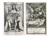 Frontispiece and Title Page to 'Bibliotheca Regia, or the Royal Library', 1659 Lmina gicle por Wenceslaus Hollar