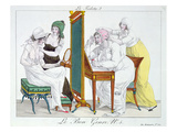 The Toilet, from the Series 'Le Bon Genre', Early 19th Century (Coloured Engraving) Giclee Print by  French