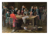 A Lesson in Hippiatric Anatomy with Philippe-Etienne Lafosse (1738-1820) Giclee Print by  French
