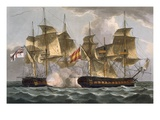Capture of the Mahonesa, October 13th 1796, Engraved by Thomas Sutherland Premium Giclee Print by Thomas Whitcombe