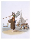 Female Shrimper, from 'Costume of Great Britain', Published by William Miller, 1805 (Colour Litho) Giclee Print by William Henry Pyne