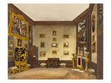 The King's Writing Closet, Hampton Court, from 'The History of the Royal Residences' Giclee Print by Richard Cattermole