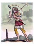 Buccinatore, Military Horn-Blower and Trumpeter, Illustration from 'L'Antique Rome' Giclee Print by Jacques Grasset de Saint-Sauveur