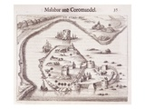 Dutch Fort on the Coast of Malabar, East Indies (Engraving) Giclee Print by  Dutch