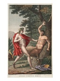 Marsyas Is Flayed by Apollo, Book VI, Illustration from Ovid's Metamorphoses, Florence, 1832 Giclee Print by Luigi Ademollo