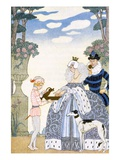 Elizabethan England, from 'The Art of Perfume', Pub. 1912 (Pochoir Print) Giclee Print by Georges Barbier