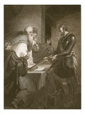 Earl Warenne Justifying the Titles to His Estates, Engraved by J. Fittler Giclee Print by Henry Tresham
