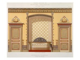 Egyptian Interior (Bathroom), from 'Interior Decoration' (Colour Litho) Giclee Print by Georges Remon