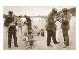 The Good, Kind German! Soldiers of the Nation Which Bombs Babies, at a Seaside Resort Giclee Print by  German photographer