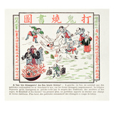 Burning the Poisonous Christian Books Which Despise Our Traditions, Our Ancestors, … Giclee Print by  Chinese