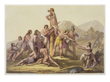 Peruvian Indians Making a Sacrifice, from 'Le Costume Ancien Et Moderne', Volume I, Plate 15 Giclee Print by Gallo Gallina