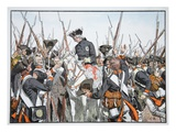 King Friederich and the Regiment Bernburg (Colour Litho) Giclee Print by Richard Knoetel