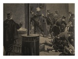Etievant, the Anarchist Shoots from the Grate Giclee Print by Fortuné Louis Méaulle