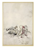 Enter Peasebottom, Cobweb, Moth, and Mustardseed Giclee Print by Arthur Rackham