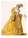 Lady in 'Grand Domino' Dress to Wear to a 'Bal Matique', Engraved by Janninet, Plate No.170 Giclee Print by Pierre Thomas Le Clerc