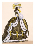 Caramel Dress for Presentation at Court, Engraved by Dupin, Plate No.276 Giclee Print by Augustin De Saint-aubin