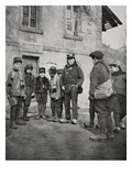 School Children from Alsace, 1915 (B/W Photo) Giclee Print by  French Photographer