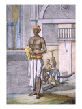 Bengali Serving as a Porter with a Palanquin Taxi in the Background Giclee Print by Franz Balthazar Solvyns
