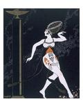 Ballet Scene with Tamara Karsavina (1885-1978) 1914 (Pochoir Print) Giclee Print by Georges Barbier