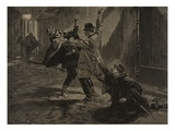 Etievant, the Anarchist Commits the Stabbing Giclee Print by Fortuné Louis Méaulle