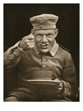 Well Fed Prisoner, Illustration from 'German Prisoners in Great Britain' (Photogravure) Giclee Print by  English Photographer