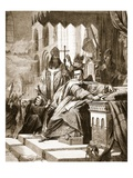 The Coronation of William the Conqueror, Illustration from 'The Illustrated London News', 1861 Giclee Print by John Cross
