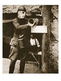 A Klaxon Horn Used to Give Warning Against German Gas-Attacks in a French Trench Giclee Print by  French Photographer