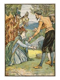The Meeting of Dorothea and Don Quixote, Illustration from 'Don Quixote of the Mancha' Giclee Print by Walter Crane