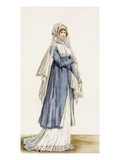 Ladies Day Dress, Plate from From the 'Incroyable Et Merveilleuse' Giclee Print by Antoine Charles Horace Vernet