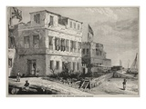 The British and American Consulates, Zanzibar (Litho) Giclee Print by  English